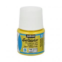 Насыщенный желтый, мерцающая краска для темных и светлых тканей Setacolor 45мл PEBEO краска по ткани