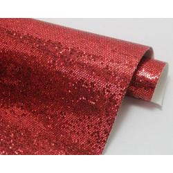 Красный, кожа искусственная соты 22х30(±1см)
