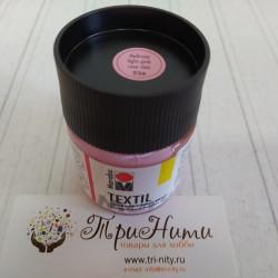 Светло-розовый, краска для светлых тканей акриловая 50мл Marabu Textil краска по ткани
