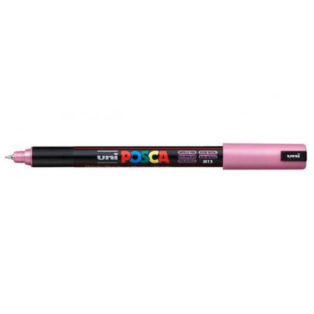 Розовый металлик игольчатый акриловый маркер 0,7мм унивсерсальный 1MR UNI POSCA (M13)