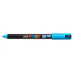 Голубой игольчатый акриловый маркер 0,7мм унивсерсальный 1MR UNI POSCA (8)