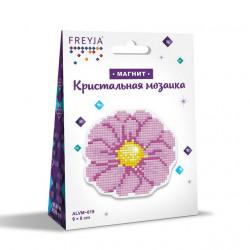 Цветочек, кристальная мозаика магнит 8x9см, полное заполнение Фрея