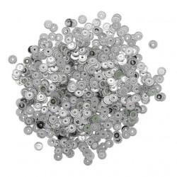 Серебро, пайетки рельефные 4мм 10гр Астра