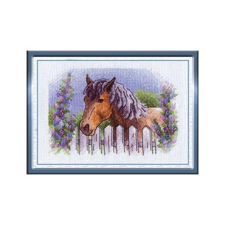 Герцог, набор для вышивания крестиком 17х12см 19цветов Panna