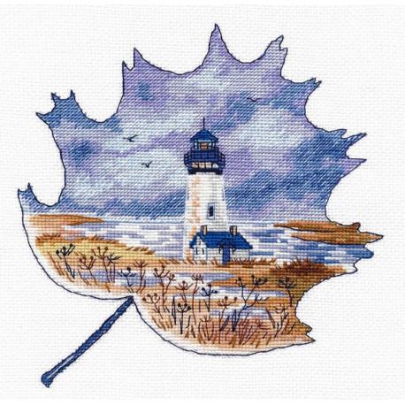 Маяк Йакин-Хед, набор для вышивания крестиком, 16х18см, мулине хлопок 14цветов Овен