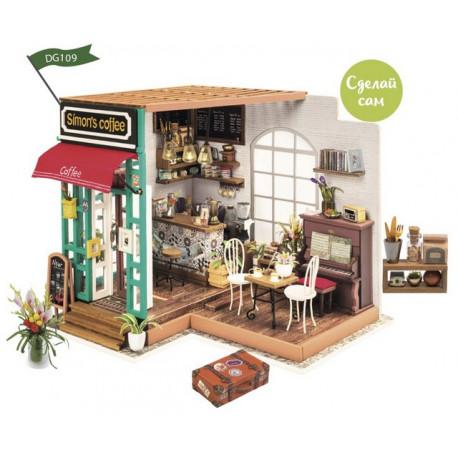 Любимая кофейня, румбокс интерьерный конструктор 19х16х17,5мм