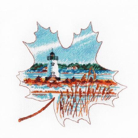 Свет Эдгартауна, набор для вышивания крестиком, 16х16см, мулине хлопок 14цветов Овен