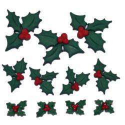 Символ Рождества, набор пуговиц 11шт пластик Dress It Up