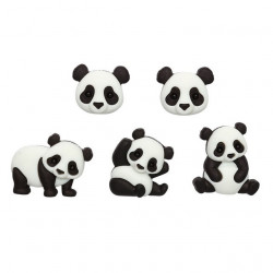 Семейство панд, набор пуговиц 5шт пластик Dress It Up