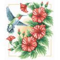 Пьянящий нектар, набор для вышивания крестиком, 27х33см, 23цвета Panna