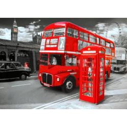 Достопримечательности Лондона, картина круглыми стразами 30х40см 14цв полная выкладка на подрамнике