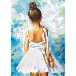 Маленькая балерина, картина круглыми стразами 30х40см 26цв полная выкладка на подрамнике TS