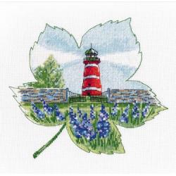 Маяк Нарсхольмена, набор для вышивания крестиком, 17х16см, мулине хлопок 14цветов Овен