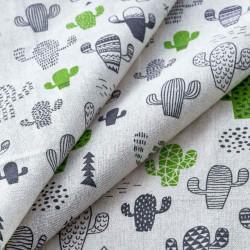 Кактусы, ткань Декор 10/04 50х50см 50%лен50%хлопок SV