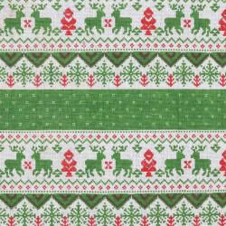 Новый год, ткань Декор 9/02 50х50см 50%лен50%хлопок SV