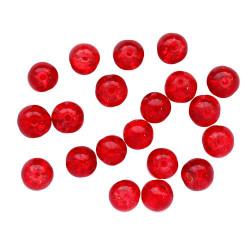Красный, бусины стеклянные Кракле 6мм 65шт Astra