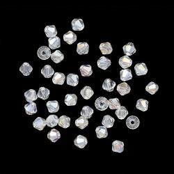 Прозрачный AB, бусины стеклянные биконус 4х4мм 40шт Astra Z-439