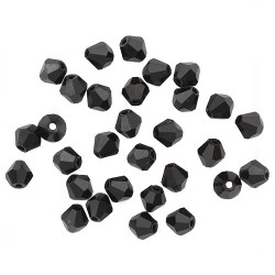 Черный, бусины стеклянные биконус 6х6мм 30шт Astra Z-439