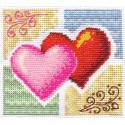 Вместе-навсегда!, набор для вышивания крестиком и бисером, 13х12см, 13+8цветов Panna