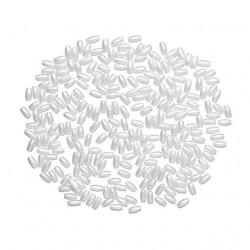 Белоснежный, бусины жемчуг 3х6мм 15гр пластик Astra 4AR293/294
