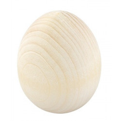 Яйцо, заготовка для декорирования дерево 4,6х6,2см, Mr.Carving