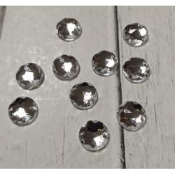 Прозрачный круглые наветта, стразы акриловые пришивные 10мм 10шт АР