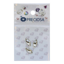 Прозрачный Наветта, стразы пришивные стекло 12х6мм 3шт Crystal Preciosa 551796 АР