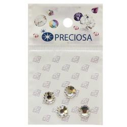 Прозрачный круглые Вива, стразы пришивные стекло 8мм 4шт Crystal Preciosa 551793 АР