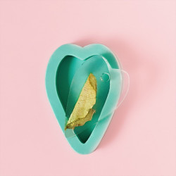 Сердце, молд силиконовый для кулона 25х40мм V