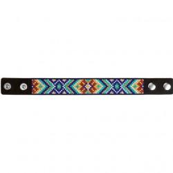 Браслет, набор для вышивания нитками на перфорированном кожзаме 2,2х22см 5цв ВС