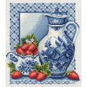 Клубника со сливками, набор для вышивания крестиком, 27х31см, 19цветов Panna