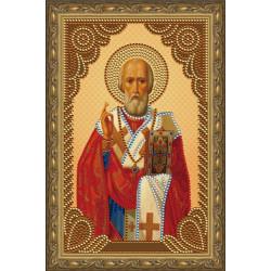 Николай Чудотворец икона, алмазная мозаика 20х30см 7цв неполная выкладка PO