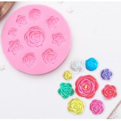 Круговорот роз, молд силиконовый d9,5см SL