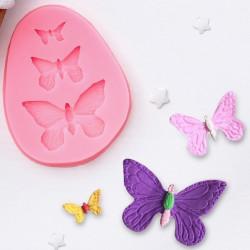 Бабочки, молд силиконовый 7,5х6х1см SL