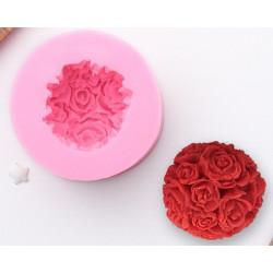 Розовый букет, молд силиконовый 3D 6,5х4,5см SL