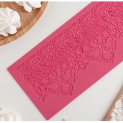 Кружевной венец, молд силиконовый коврик для айсинга 39х8,5см SL