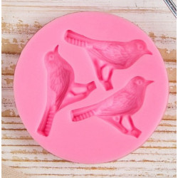 Три птицы, молд силиконовый 6,5х1,1см SL