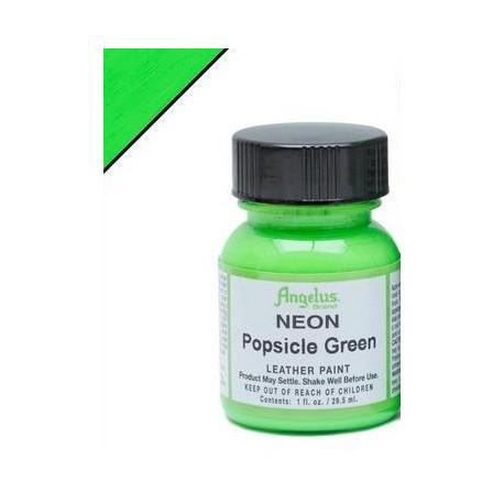 Popsicle Green Neon(Зеленый Фруктовое Мороженное Неон) краска для кожи акриловая 29,5мл Angelus