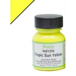 Tropic Sun Yellow Neon(Желтый Тропическое Солнце Неон) краска для кожи акриловая 29,5мл Angelus