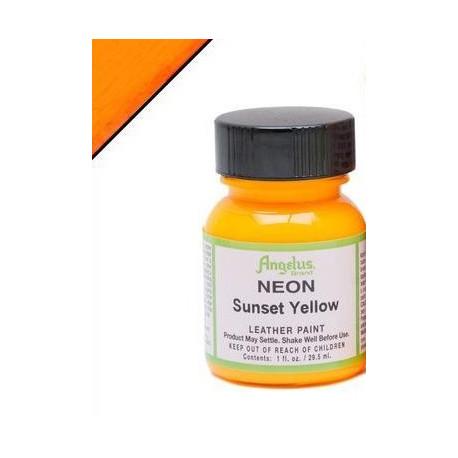 Sunset Yellow Neon(Желтый Закат Неон) краска для кожи акриловая 29,5мл Angelus