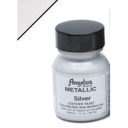 Silver Metallic(Серебро Металлик) краска для кожи акриловая 29,5мл Angelus