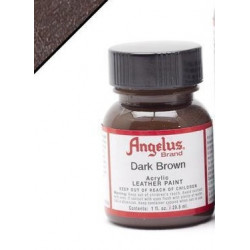 Dark Brown(Темно-Коричневый) краска для кожи акриловая 29,5мл Angelus