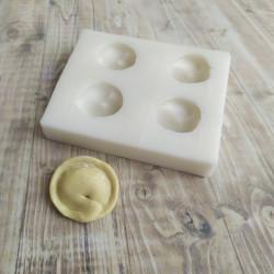 Пельмень 4шт, 3D силиконовая форма d4см h3см
