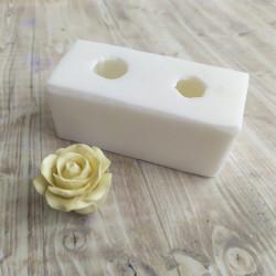 Роза Бутон 2шт, 3D силиконовая форма d3,5см h3,5см