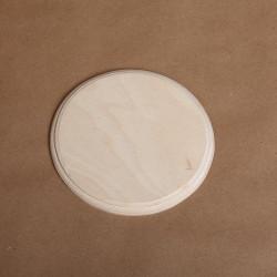 Накладка круг с фаской, заготовка для декорирования d12см фанера 8мм NZ