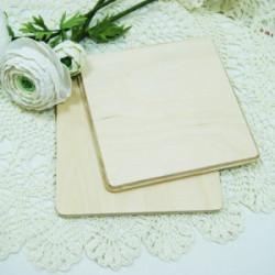 Накладка квадрат с фаской, заготовка для декорирования 10х10см фанера 8мм NZ