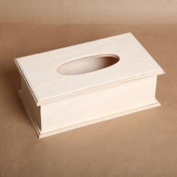 Салфетница с выдвижным ящиком, заготовка для декорирования 27х15,5х7,5см фанера 8-1,8мм NZ