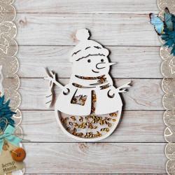 Снеговик Этника новогодняя, шейкер 9,4х7,4см CraftStory
