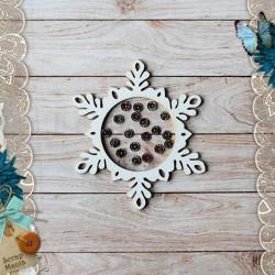 Снежинка Сканди Новый Год, шейкер d7см CraftStory