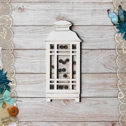 Фонарь маленький Сканди Новый Год, шейкер 9,2х4,4см CraftStory